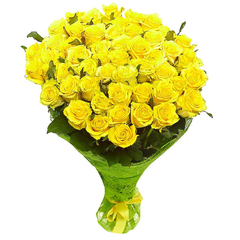 Маленький букет из желтых роз, невесты спб