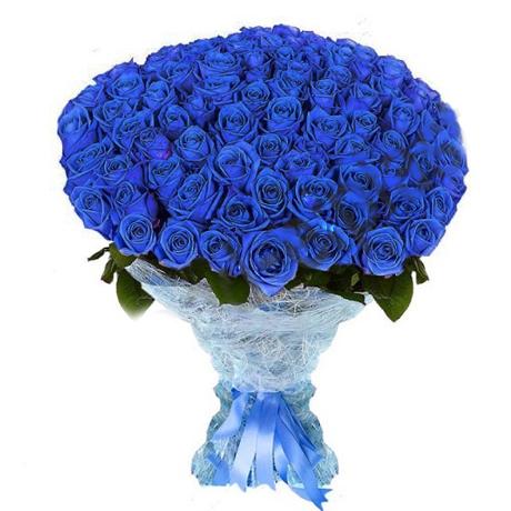 101 синяя роза