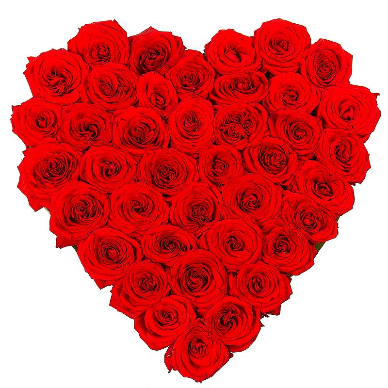 Букет-сердце из 45 роз