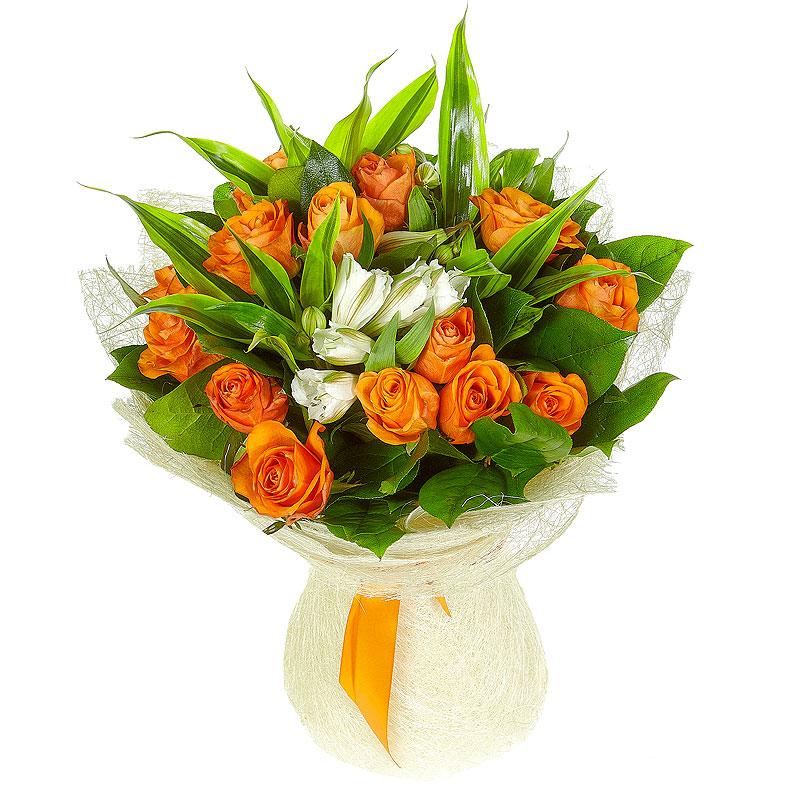 Доставка, оранжевые розы с доставкой по беларуси