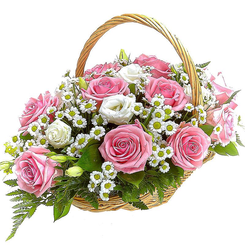 Открытки цветы в корзинах, надписью