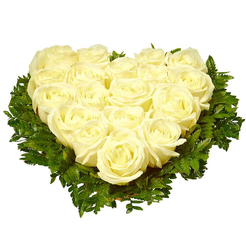25 роз в виде сердца