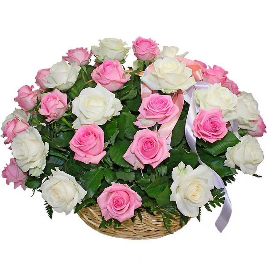 51 роза в корзинке