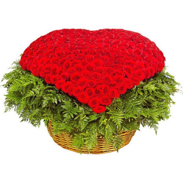 501 роза в корзинке