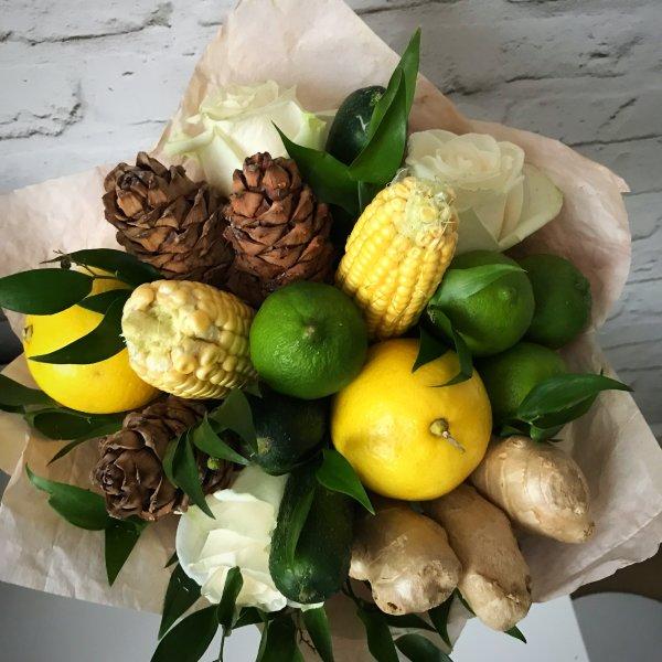 Букет из лимонов и лаймов