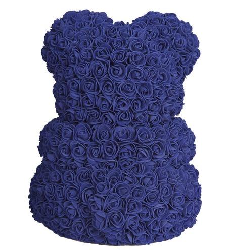 Синий мишка из роз 40 см