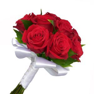 Букет невесты из 15 красных роз