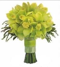 Букет невесты из фисташковых орхидей