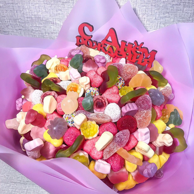 Букет с мармеладом и жевательными конфетами