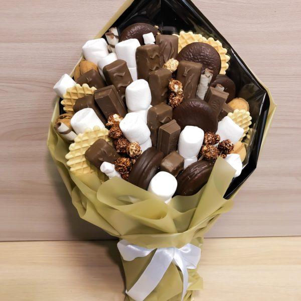 Букет с маршмеллоу и шоколадками
